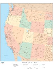 Western US Regional Wall Map by Map Resources
